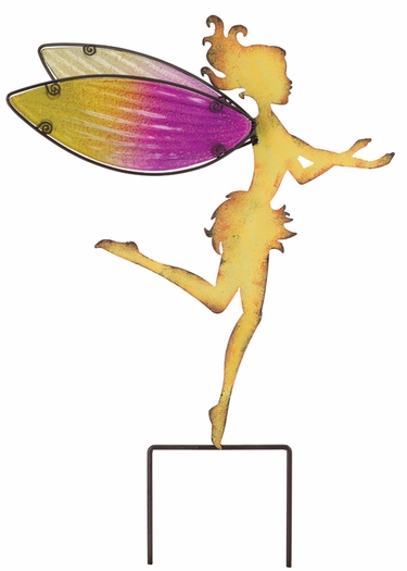 Large Yellow Fairy Garden Stakes (Set of 2) - Click to enlarge