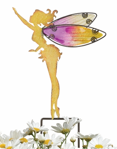 Small Yellow Fairy Stakes (Set of 4) - Click to enlarge