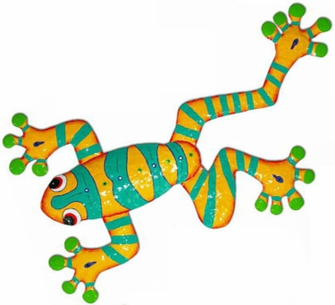 Yellow Green Frog Wall Art only $69.99 at Garden Fun
