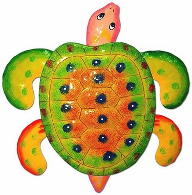 Yellow Green Sea Turtle Decor - Click to enlarge