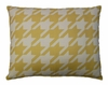 Yellow Houndstooth Outdoor Pillow