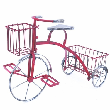 Youthful Tricycle Planter - Red - Click to enlarge