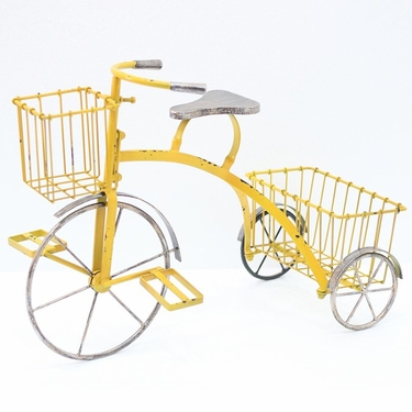 Youthful Tricycle Planter - Yellow - Click to enlarge