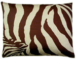Zebra Chocolate Outdoor Pillow