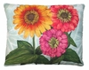 Zinnias Flowers Outdoor Pillow