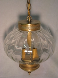 "10"" Round Onion Hanging Light Fixture with Galley"