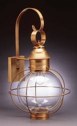 "13"" Round Onion Wall Light Fixture - Caged"