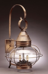 "12"" Onion Wall Light Fixture - Caged"