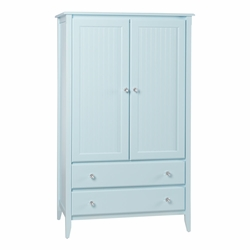 2-Drawer Wide Armoire<font color=a8bb35> NEW</font>