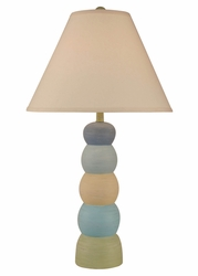 Multi Stripe 5-Ball Pot Table Lamp