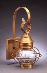 "8"" Onion Wall Light Fixture With Cage"