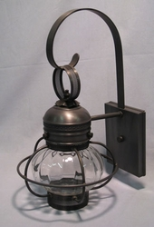 "6"" Optic Globe Onion Wall Light Fixture<font color=a8bb35> Discontinued</font>"