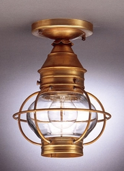"6"" Round Onion Flush Mount Caged Light Fixture"