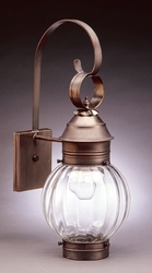 "8"" Optic Round Onion Wall Light Fixture<font color=a8bb35> Discontinued</font>"