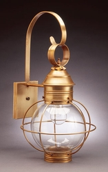 """8"""" Round Onion Wall Light Fixture-Caged"""