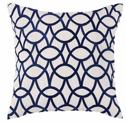 Abbey Indigo Embroidered Pillow<font color=a8bb35> NEW</font>