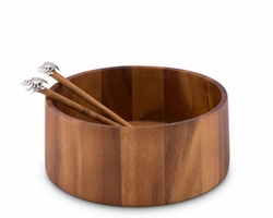 Acacia Wood Crab Salad Set