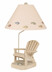 Adirondack Chair Lamp with Sage Flip Flops