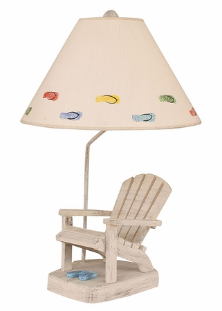 Adirondack Chair Lamp with Blue Flip Flops