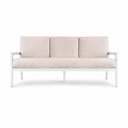 Albin White Sofa with Natural Cushion