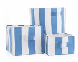 Alex French Blue Storage Bin in 3 Sizes<font color=cf2317>20% OFF</font>