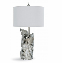 Amber Silver Driftwood Table Lamp