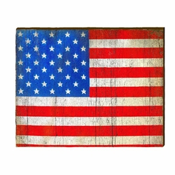 American Flag Beach Wall Art