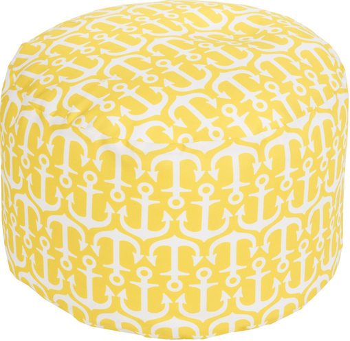 Surya IndoorOutdoor Anchor Pouf In Six Colors Cottage Bungalow New Anchor Pouf