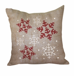 Anchor Snowflake Pillow <font color=a8bb35> Discontinued</font>