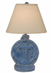 Anchor Table Lamp in China Blue Wash