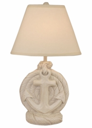 Anchor Table Lamp with Antique Light Finish