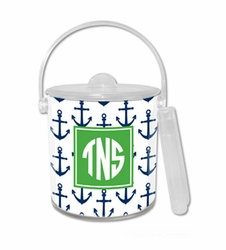 Anchors Navy Ice Bucket