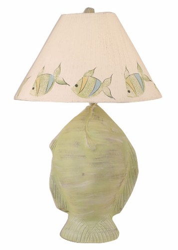 Angel Fish Pot Table Lamp in Cottage Seagrass