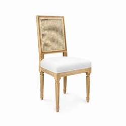 Annette Cane Side Chair in Limed Oak