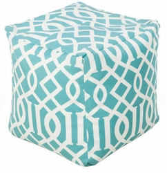 Aqua Indoor/Outdoor Pouf