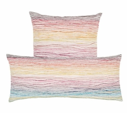 Aquarelle Embroidered Decorative Pillow <font color=a8bb35> NEW</font>