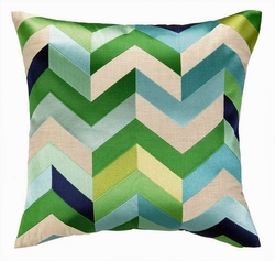 arrowhead blue u0026 green pillow