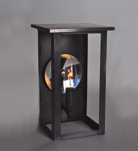 Wall Mounted Accent Lights : Ashford Collection 1-Light Wall Mount Lantern with Mirror Accent