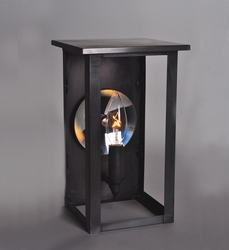 Ashford Collection 1-Light Wall Mount Lantern with Mirror Accent