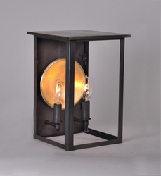 Ashford Collection 2-Light Wall Mount Lantern with Brass Accent