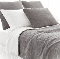 Baja Matelasse Coverlet in Anthracite<cont color=cf2317> Up to 30% OFF</font>