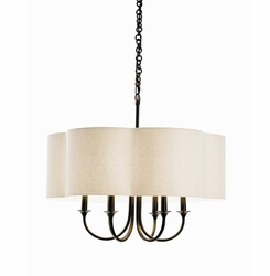 Ritterhouse 6-Light Bronze Chandelier
