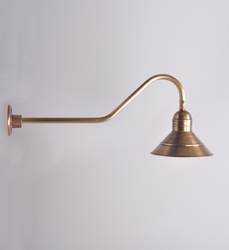 Outdoor Barn Wall Mount Light Fixture in Copper