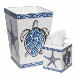 Bath Set with Turtle and Starfish<font color=cf2317> Discontinued</font>