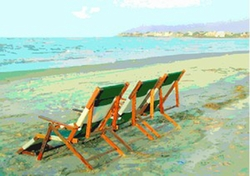 Beach Chairs Print