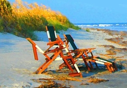 Beach Chairs II Print
