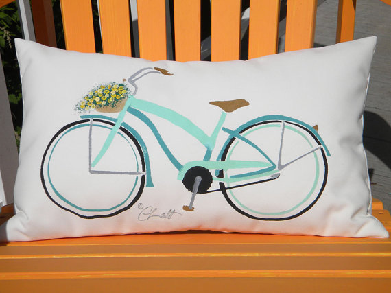 Beach Cruiser Outdoor Pillow For Sale Cottage Amp Bungalow