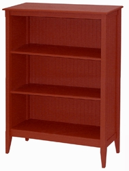 Bead Board Tall Wide Cottage Bookcase-Two Shelves