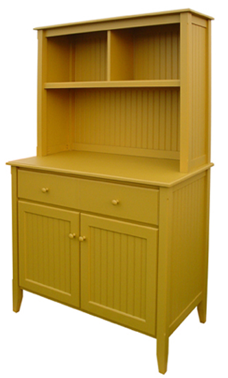 Beadboard cupboard with hutch for sale cottage bungalow for Beadboard kitchen cabinets for sale