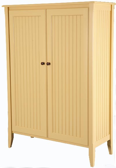 Beadboard display cabinet for sale cottage bungalow for Beadboard kitchen cabinets for sale